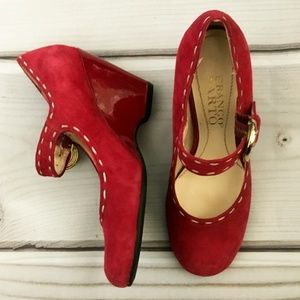 Franco Sarto Red Wedges Shoes